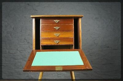 Handmade Edwardian Mahogany Compendium / Desk / Kitchen - Interesting Provenance
