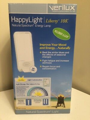 Verilux Happy Light Natural Spectrum Liberty 10000 10K Mood Energy NEW Therapy