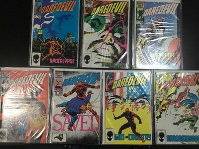 DAREDEVIL #227-233 COMPLETE BORN AGAIN STORY Frank Miller High NM AVG GRADE