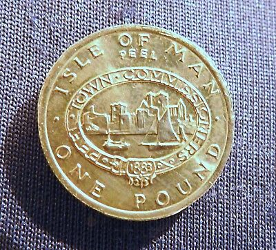 1993 Isle of man one pound-PEEL