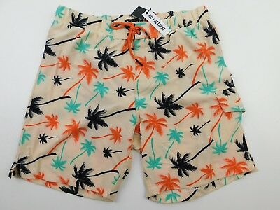 28322ed6a41c5 No Retreat Men's Sand Palm Trees 4 Way Stretch Cargo Swim Trunks Size XL NWT