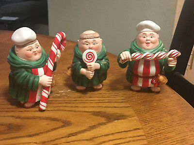 Dept 56 Lot Of (3) Merry Makers Monk Figurines Calvin, Timothy And Leopold Look!