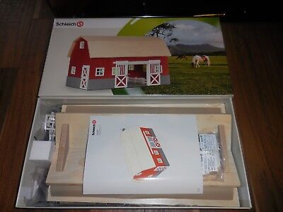 Schleich Farm Life Red Barn For Horses 42028 Made In Germany New In Box