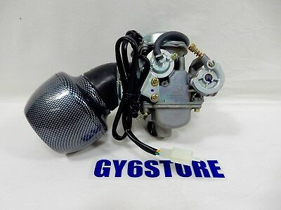 GY6 CARBURETOR WITH PERFORMANCE AIR FILTER FOR 150cc SCOOTERS / ATVS / UTVS
