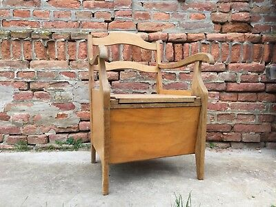 COMMODE VINTAGE SEAT with Toilet Composting toilet, off grid living ...