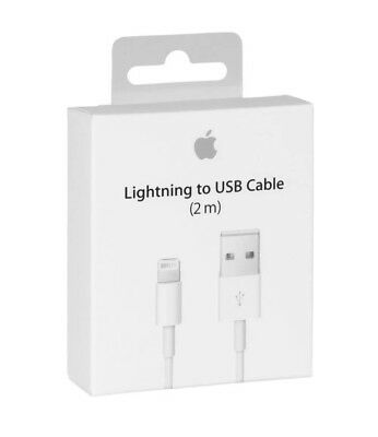 Genuine Apple 2M iPhone X/8/8+/7/6S/6/5S/5 Lightning USB Data Charger Cable Lead