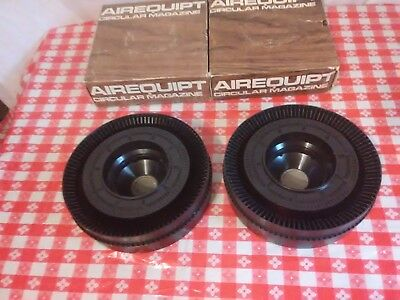 2 Vintage Airequipt Circular Magazine Carousel - Holds 100 Slides (())***##@@A4