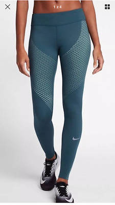 Nike Women's Zonal Strength Running Tights Space Blue SIZE L 831128-425 BNWT
