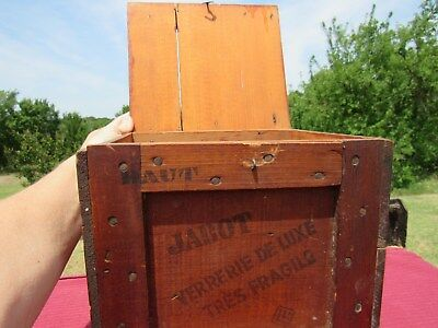 Vintage French Perfume Packing Crate Jabot Lucien Lelong
