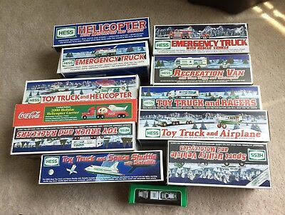 Hess Truck Collection Lot Of 12 Toy trucks - 1996-2004