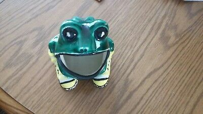 Vintage CERAMIC FROG Open Mouth Scrubby Scouring Pad Sponge Holder RARE-shoes