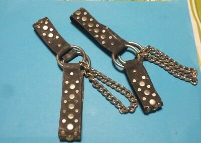 vintage Boot straps with chain.