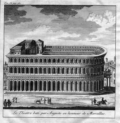 1750 - Theatre of Marcellus Roma Rome Rom map Karte engraving Kupferstich