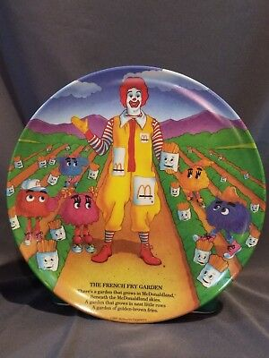 Ronald McDonald Plate, The French Fry Garden, 1989