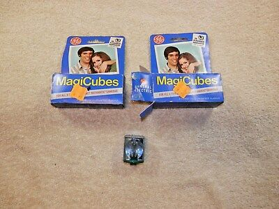 General Electric Magicubes Camera Flash Bulbs 2 packages of 3 Cubes