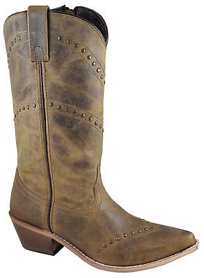 Smoky Mountain Womens Crystal Brown Leather Cowboy Boots