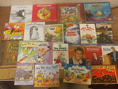 Lot of 20 K-5 Scholastic Learn to Read Picture Mix Set Kid Children Book #U99 NR