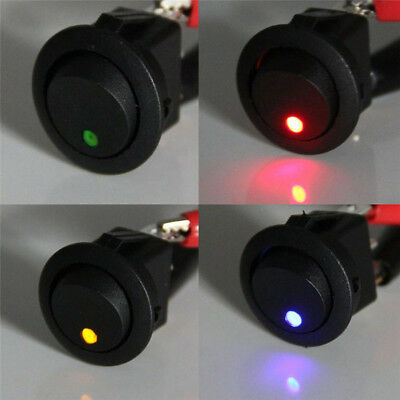 4x Waterproof ON/OFF Car 3-Pin 12V Round Rocker Dot Boat LED Light Toggle Switch
