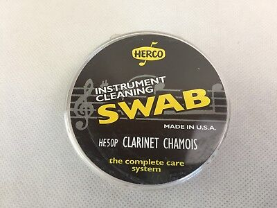 Herco - Clarinet Swab - Chamois With Drawstring and Weight - New -