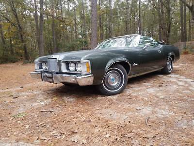 1973 Mercury Cougar  1973 mercury cougar green convertible