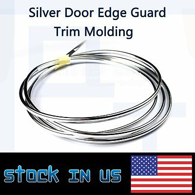 Molding Seal Decoration Trim Chrome Silver U Style Truck Door Edge Protector 9ft