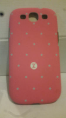 She's Extreme Pink with Aqua Dot Hard Shell Back Case for Samsung Galaxy S3