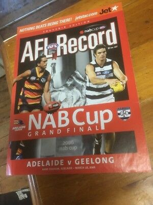 2006 NAB Grand Final AFL Record - Adelaide v Geelong