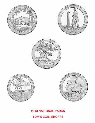 2013 National Park Quarters Complete P&d Set - 10 Coins  *****in-Stock*****