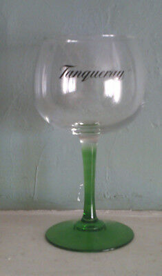 GENUINE GREEN STEM 8 INCH Tanqueray Gin Goblet Glass New FREE SHIPPING