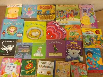 Lot of 20 Board Toddler Hardcover Picture DayCare Kid Child Books - UNSORTED V10