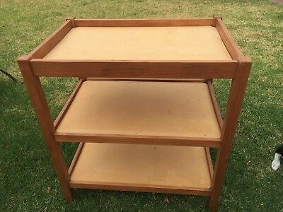 Wooden baby nappy change table