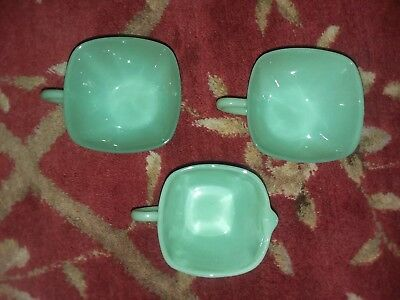 Fire King Jadite creamer & 2 cups square new