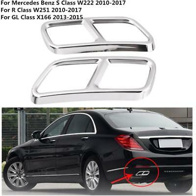 2pcs Rear Exhaust Pipe Cover Trims for Mercedes Benz GL X166 S R Class W222 W251