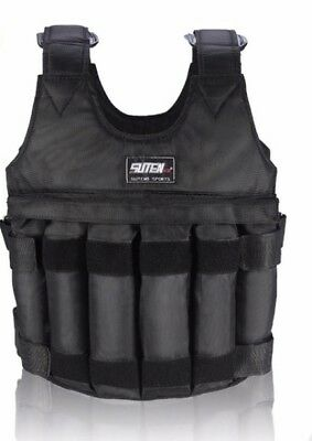 US Weighted Vest Adjustable Max Loading 50kg Weight Jacket Exercise Boxing Train