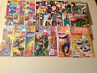 Marvel Comic Lot 2099! 25 Comics in All! Spider-Man , Ghost Rider, Doom & More!