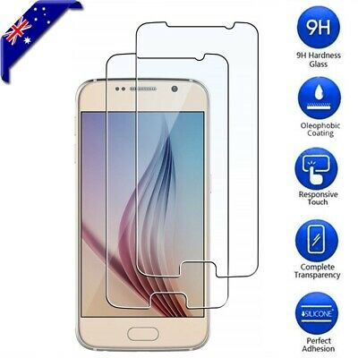 2x Samsung Galaxy S5 S6 S7 Note 3 4 5 Tempered Glass Screen Protector Film Guard
