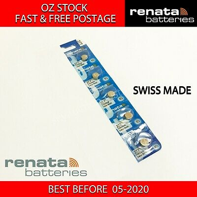 5 x RENATA SR626SW 377 1.55v Button Coin Cell Silver Oxide Battery SWISS MADE