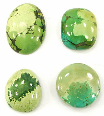 112.45 Ct Natural Tibet Turquoise Loose Cab Gemstone Wholesale Lot 4 Pcs - 20063