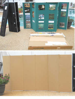 "Downing 2-Sided Presentation Display Board 98""x48"" Tan & Green & Rolling Case"