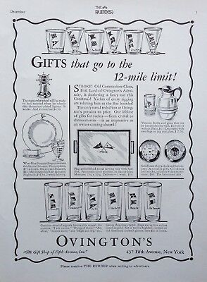 1931 Ad(H3)~Ovington's, Fifth Ave. Nyc. Marine Glassware And China Gifts