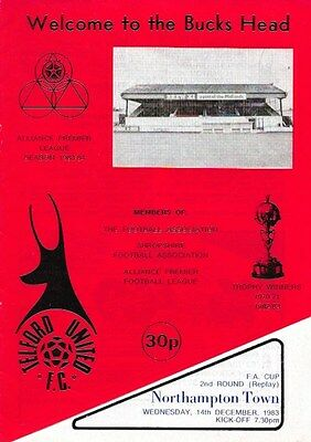 Telford United V Northampton Town 83/84 -- Fac 2 Replay.