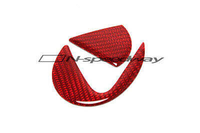 For 01~05 Lexus IS 300 Red Carbon Fiber Front Or Rear Trunk Logo Emblem Decal