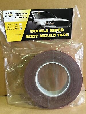 PPC Double Sided Body Mould Tape 24mm x 10 Metres, Automotive.