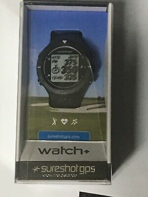 2018 SURESHOT Watch+ Golf GPS Preloaded with over 35,000 Courses - Black/Silver