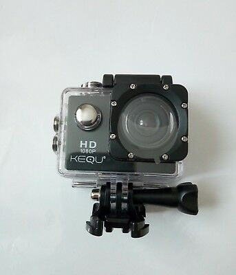 KEQU HD Action Camera Full HD 1080p 16MP Water-Resistant Car- Home -Cycling