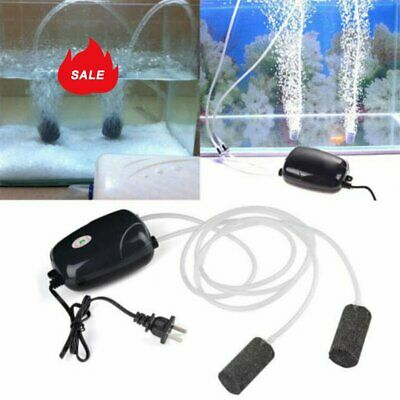 AU 2Pcs Air Bubble Disk Stone Aerator Aquarium Fish Tank Pond Oxygen Pump DM