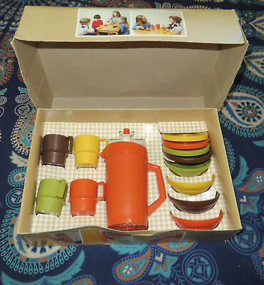 Rare Vintage Toy Tupperware Mini Serve It  Serving Set 1976 in Box Unused