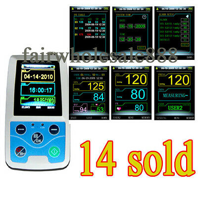 New Upgraded 24 hours Ambulatory Blood Pressure Monitor Holter ABPM+cuff Contec