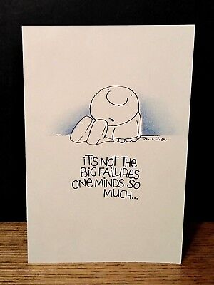 Vintage Ziggy greeting card hang in there big failures little defeats keep going