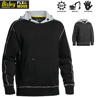 Bisley Flex & Move Contrast Hoodie Warm Jumper Cotton Fleece Winter Pullover Swe